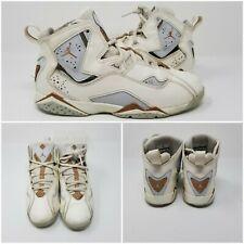 Nike Air Jordan 7 True Flight Shoe Sail/Metallic Red Bronze Shoes Sneakers SZ 3Y