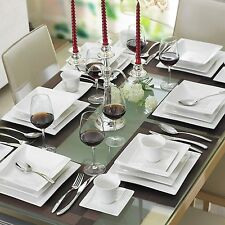 Serie Carina, 60 tlg. Porzellan Tafelservice für 12 Personen