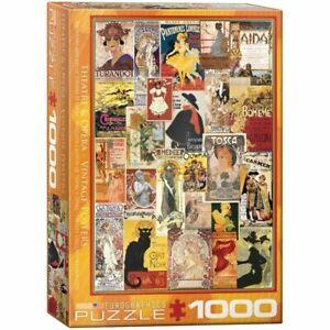 Eurographics 1000 Pc Jigsaw Puzzle Opera /Theater Vintage Collage EG60000935