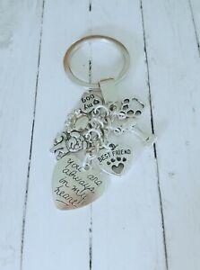 I love my Dog, best friend, memorial key ring