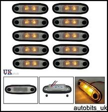10 PCS 24V LED ORANGE MARKER FLUSH FOR ROOF SIDE BULL BAR SCANIA MAN VOLVO DAF