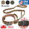 Tactical  K9 Dog Training Collar+Leash with Metal Buckle for L Dog Heavy Duty