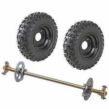 ATV Axle Shaft Assembly Kit +Tires +Sprocket Brake Disc Pillow Block Trike Drift