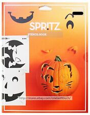 SPRITZ* 14 Page STENCIL BOOK+Stickers HALLOWEEN Pumpkin Decoration FACES+ANIMALS