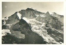 Jungfrau Glacier Schweiz Switzerland Suisse Zeppelin Airship IMAGE CARD 30s