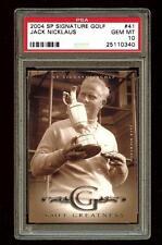 JACK NICKLAUS 2004 SP Signature Golf Greatness #41  PSA 10 POP 1 #1750