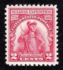 "Us # 657 (1929) -2c- Mnh (Ognh) Grade:Xf/S ""Sullivan Expedition"""