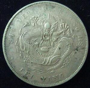 China Chihli Dollar 1908 Year 34 VF-XF