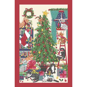 Geschirrtuch, Christmas Tree Cat, Katze von Ulster Weavers