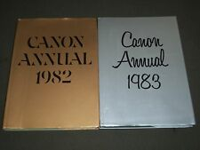 1982& 1983 CANON ANNUAL JAPANESE BOOK LOT OF 2 - NICE PHOTOS - KD 1840