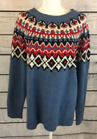 Chaps Blue Fair Isle Holiday Christmas Pullover Sweater Women's Size XXL NWT