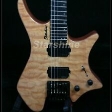 Headless Electric Guitar One Piece Mahogany Body Pull/Push Knobs Fanned Frets