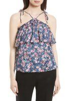 NWT Rebecca Taylor Tea Rose Floral Prints Ruffle Silk Blend Tank Cami 6