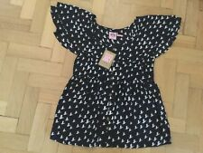 NWT Juicy Couture New & Gen. Ladies Small Black 100% Silk Maternity Top UK 8/10