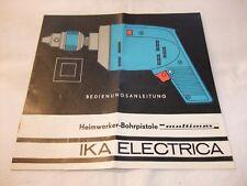 DDR Werbung Reklame Plakat Prospekt Bedienungsanleitung Bohrmaschine Multimax