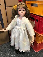 Künstlerpuppe Porzellan Puppe 65 cm. Top Zustand