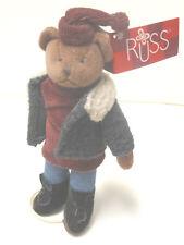 Russ Teddy Avery mit Ständer Teddybär Bär Baer 19 cm aus Sammlung