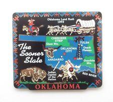 Oklahoma State Landmarks Brass Magnet Travel Souvenir Gift