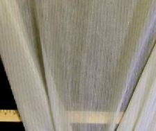 Discount Fabric EXTRA WIDE SHEER DRAPERY Taupe Pin Stripe Organza Home Decor