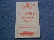 1954 ALL AMERICAN AUTOMOBILE COMPANY RECORD COMPLETE LISTING A to Z by SAMPIER