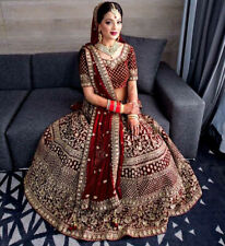 Pakistani Lehenga Indian Wedding Reception Lengha Choli Ghagra Blouse Bridal