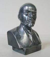 CCCP VLADIMIR LENIN BUSTO ORIGINALE URSS 12 cm ALLUMINIO ZAVALOV CIMELIO USSR