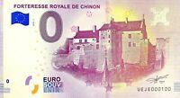BILLET 0  EURO  FORTERESSE ROYALE DE CHINON  FRANCE  2018  NUMERO 100