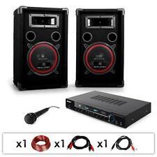 DJ PA SYSTEM SET 1000W KARAOKE SPEAKERS AMPLIFIER MIC *FREE P&P SPECIAL OFFER