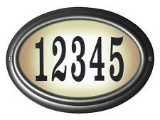 Edgewood, Lto-1302-Pw, Oval Lighted Address Sign in Pewter Frame Color
