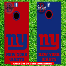 New York Giants Cornhole Board Decal Set of 6 Decals Vinyl 6 Piece Sticker Kit