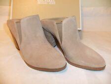 MICHAEL KORS Braden Tan Suede Leather Mule Slip On Heel Size 9 EU 40 NIB $150