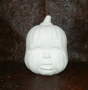 Ceramic Bisque BABY PUMPKIN Crying  Ready to Paint Pottery