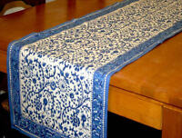 Rajasthan Floral Block Print Table Runner 100% Cotton 72 x 15 Inches