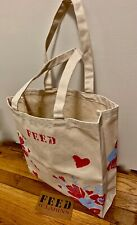 CLARINS FEED 10 Cotton Canvas reusable Tote Bag Made in India