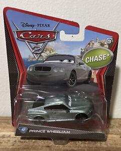 Disney Pixar Cars 2 Prince Wheeliam Chase 42 Rare!