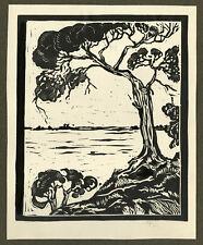 Antique Print-LANDSCAPE-TREE-BUSH-Polman-ca. 1940