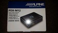 Alpine PDX-M12 -CLASS D MonoBlock Car Bass Sub Amp Subwoofer Amplifier 1200W RMS