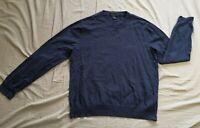 Brooks Brothers Men's Navy Supima Cotton Jumper Size M Medium Used Condition