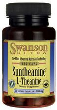 2 x Swanson Ultra. SUNTHEANINE. L-THEANINE. 100mg. 60 veggie caps.