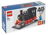 LEGO • 40370 VIP PROMO Set 40° anniversario dei treni LEGO TRENO A VAPORE NUOVO