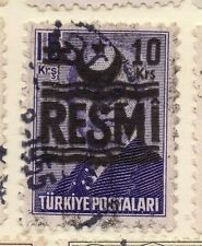 Turkey 1955-56 Optd Resmi Star & Crescent Issue Fine Used 10k. Surcharged 085999