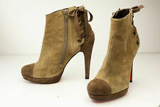 Jorge Juan 6.5 Brown Platform Ankle Boots Women's Spain EU 37
