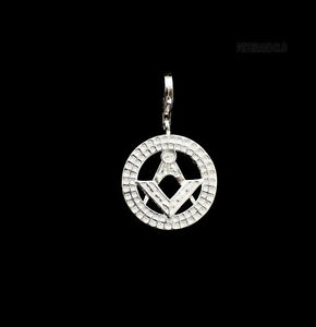 Pendant Compass And Square Silver 925 Freemason Masonic Masonry Mason 3878