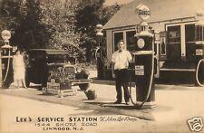 5x7 LEE'S SUNOCO SERVICE  STATION H.JOHN LEE PROP. MOTOR OIL BOTTLES coke sign