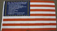 3X5 10 COMMANDMENTS USA FLAG TEN BIBLE RELIGOUS US F009