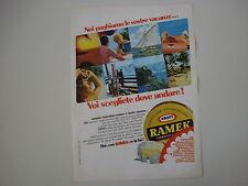 advertising Pubblicità 1968 FORMAGGIO RAMEK KRAFT