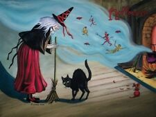 Halloween artist signed print #1 (11 3/4 x 8 1/2 inches)