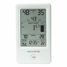 AcuRite 01089M Rain Gauge with Thermometer & Humidity