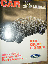 1987 GRAND MARQUIS LINCOLN TOWN CAR FORD CROWN VICTORIA FACTORY SERVICE MANUAL
