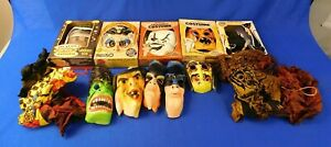 Large Lot of 17 Piece Individual Vintage Halloween Costume and Masks Batman